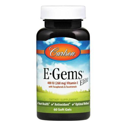 Carlson Labs E-Gems Elite - 400 IU - 60 Softgels - 545_front2020.jpg