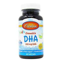 Carlson Labs Chewable DHA for Kids 100 mg