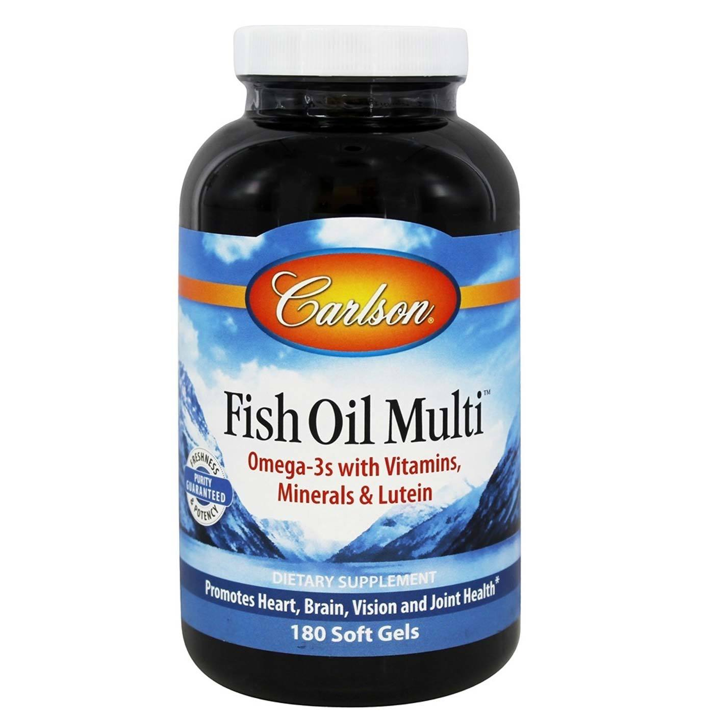 Carlson labs fish oil multi 180 soft gels for Carlson labs fish oil