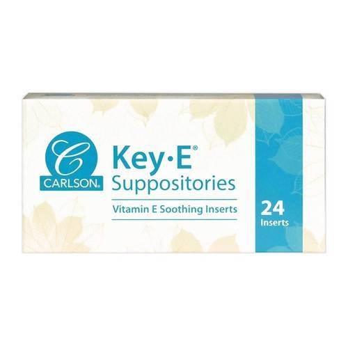 Carlson Labs Key E Suppositories - 24 units - 702_front2020.jpg