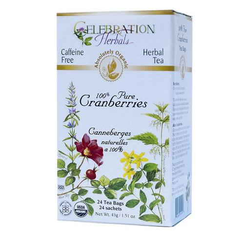 Celebration Herbals Herbal Tea Cranberry - 100% Pure - 24 bags