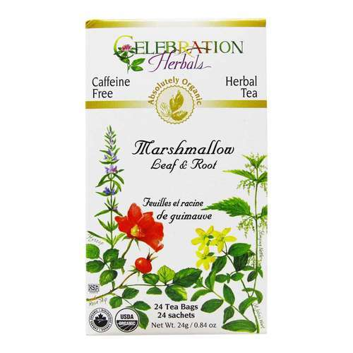 Celebration Herbals Marshmallow Leaf and Root Herbal Tea 24 Bags, 24 티백 - 19130_front2020.jpg