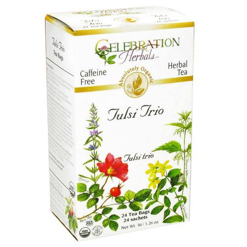 Celebration Herbals Herbal Tea Holy Basil - Tulsi Trio - 24 bags