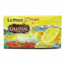 Celestial Seasonings Non GMO Herbal Tea Lemon Zinger