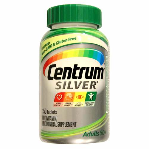 Centrum Silver Adults 50+ Multivitamin - 150 Tablets - 115813_front.jpg