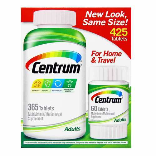 Centrum Adults Multivitamin - 425 Tablets - 349773_front2019.jpg
