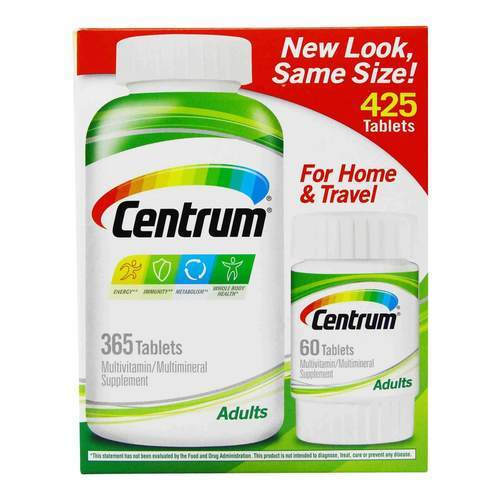 Centrum Adults Multivitamin - 425 Tablets - 349773_front2020.jpg