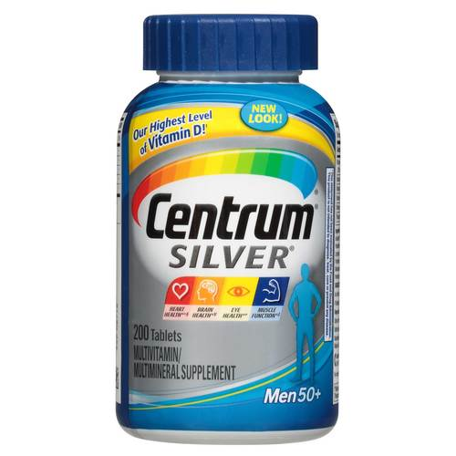 Centrum Silver Men's 50+ MultiVitamina - 200 Tabletas - 84283_front.jpg