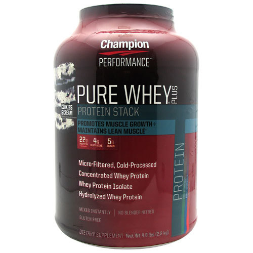 Champion Performance Pure Whey Plus Protein Stack Cookies & Cream - 4.8 lbs