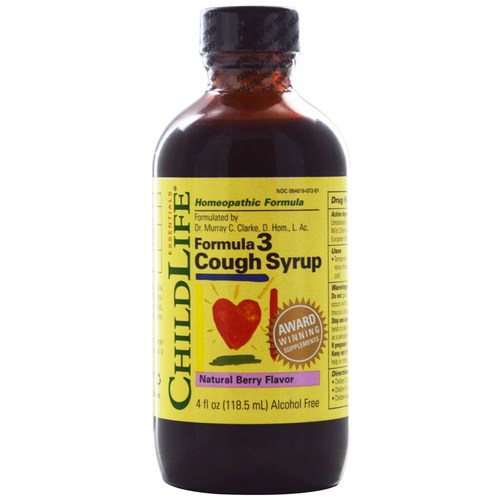 ChildLife Formula 3 Cough Syrup, Ягода - 4 fl oz - 25536_1.jpg