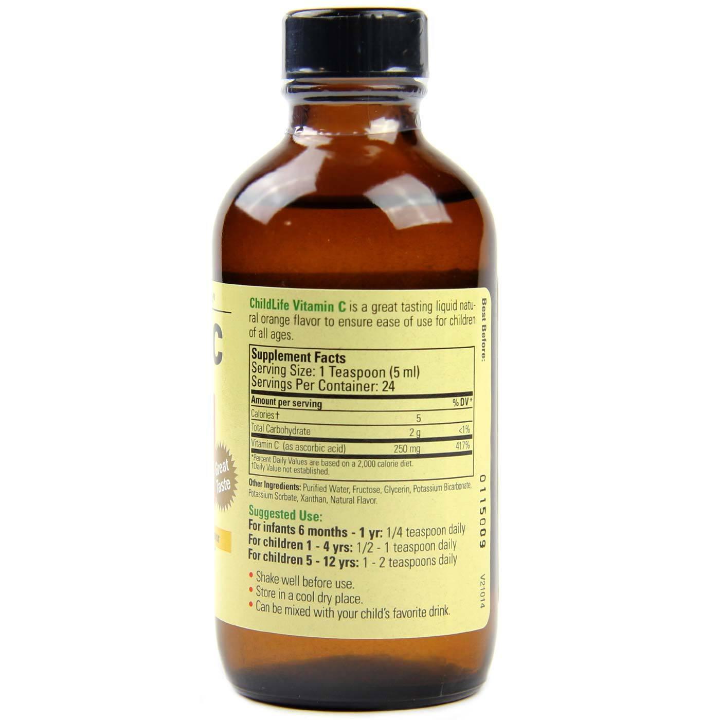 Childlife Vitamin C Liquid Orange 4 Fl Oz