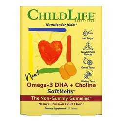 Childlife Omega 3 DHA Softmelts Natural Passion Fruit Flavor