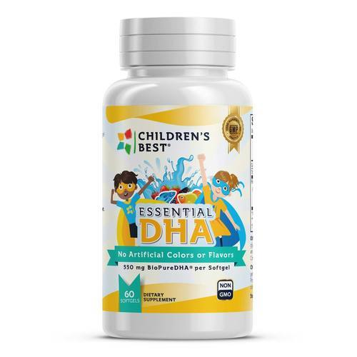 Children's Best Essential DHA for Kids Non-GMO Fish Oil Concentrate - 60 Softgels - 349430_front_revised11_2019.jpg