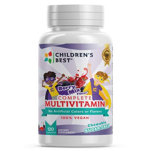 Complete Sugar-Free Multivitamin for Kids - Non GMO- Vegan Based