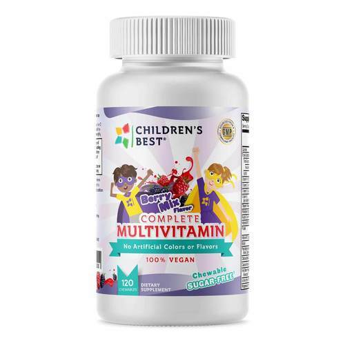 Children's Best Complete Sugar-Free Multivitamin for Kids - Non GMO- Vegan Based Berry Burst - 120 Chewables - 349432_front_rev02-17-20.jpg