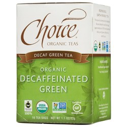 Choice Organic Teas Organic Decaffeinated Green Tea