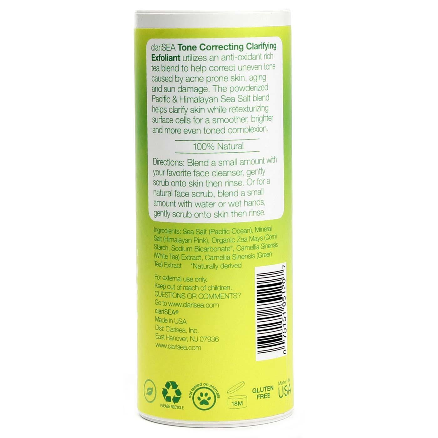 clariSEA Sea Salt Solutions Tone Correcting Clarifying Exfoliant, FACE, 5 oz. Jurlique Soothing Day Care Lotion, 3.3 Fluid Ounce