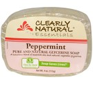 Clearly Natural Peppermint Pure and Natural Glycerine Soap