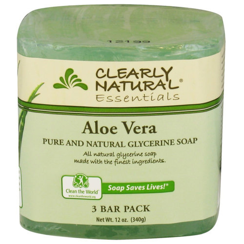 Clearly Natural Glycerine Soap Bars Aloe Vera - 3 Bar Pack - 58551_a.jpg