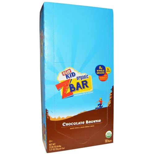 Clif Bar Kid Organic Z Bar Chocolate Brownie - 18 bars - 20874_01.jpg