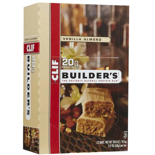 Clif Bar Builder's Protein Bars Vanilla Almond - 12 Bars