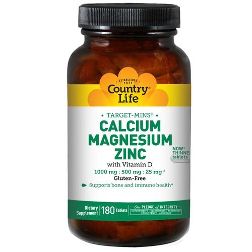 Country Life Calcium Magnesium Zinc 180 Tablets Evitamins India