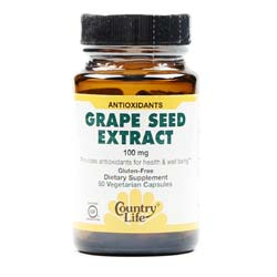 Country Life Grape Seed Extract 100 mg