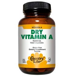 Country Life Dry Vitamin A 10,000 IU