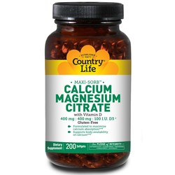 Country Life Cal-Mag Citrate wVitamin D