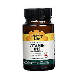Country Life Sublingual Vitamin B12 500 mcg