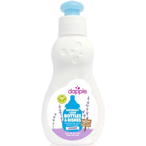 Dapple Travel Size Baby Bottle and Dish Liquid Lavender - 3 oz