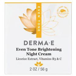 Derma E Evenly Radiant Brightening Night Creme