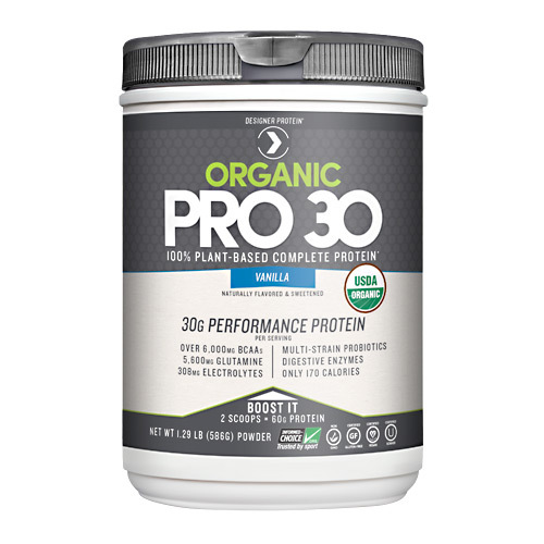 Designer Protein Organic Pro 30 Performance Protein Natural Vanilla - 1.29 lbs
