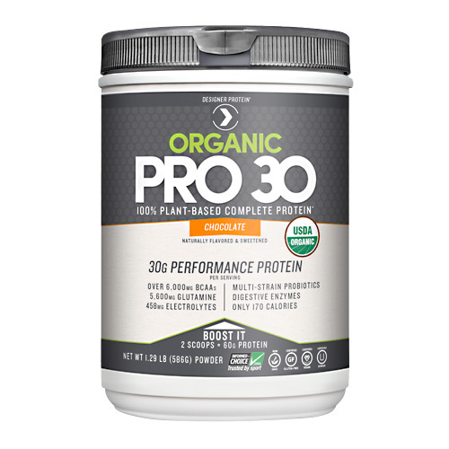 Designer Protein Organic Pro 30 Performance Protein Natural Chocolate - 1.29 lbs