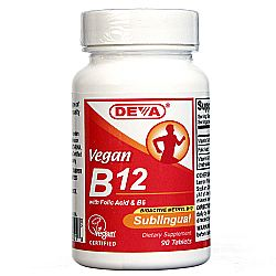 Deva Vegan Vitamin B12 Sublingual