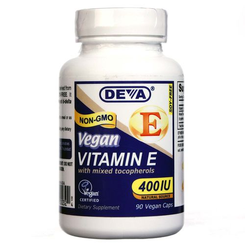 Vegan Natural Source Vitamin E with Mixed Tocopherols