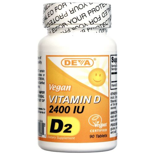 Deva Vegan Vitamin D 2-400 IU Vegetarian - 90 Tablets - 895634000331_1.jpg