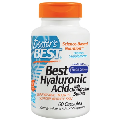 Doctor's Best Hyaluronic Acid with Chondroitin Sulfate - 100 mg - 60 Capsules