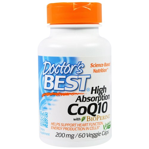 Doctor's Best High Absorption CoQ10 - 200 mg - 60 Vegetarian Capsules - 54944_01.jpg