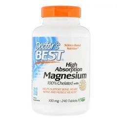 Doctor's Best High Absorption Magnesium 100 mg