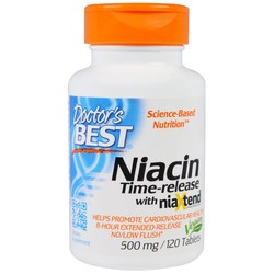 Doctor's Best Niacin Time-Release 500 mg