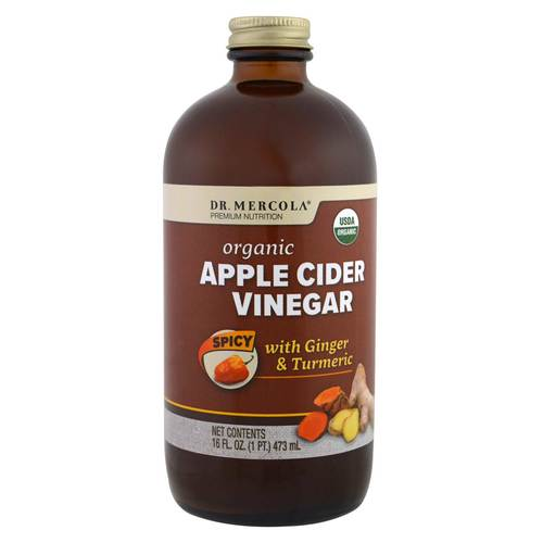 Dr. Mercola Apple Cider Vinegar - Spicy  - 16 oz. - 349124_front.jpg