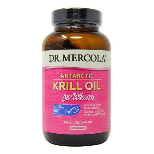 Dr Mercola Krill Oil for Women 1000 mg with Evening Primrose Oil 270 Capsules - 349225_front2020.jpg