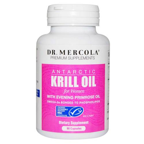 Dr Mercola Krill Oil for Women 1000 mg with Evening Primrose Oil 90 Capsules - 349226_front.jpg