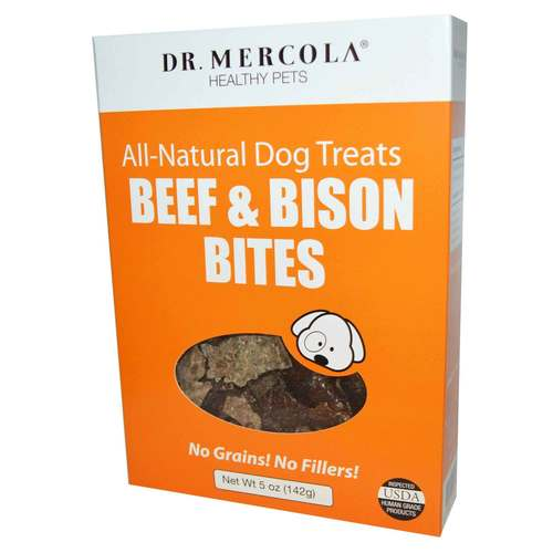 Dr Mercola All Natural Dog Treats - Beef and Bison 5 oz. - 349300_front.jpg