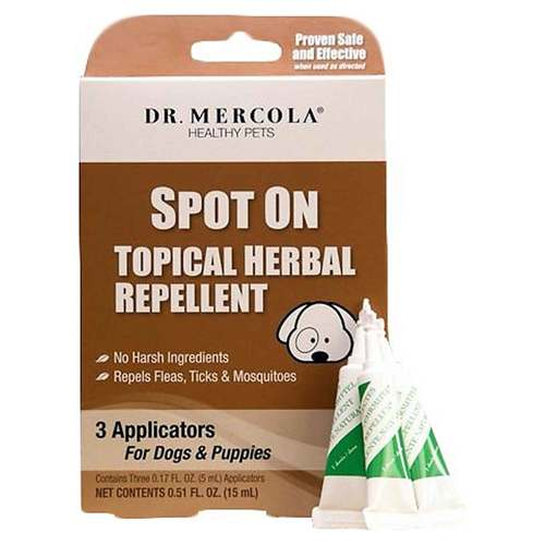 Spot on Topical Herbal Repellent for Dogs and Puppies