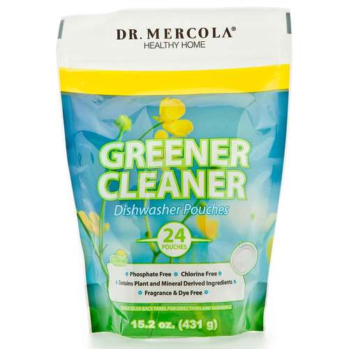 Dr. Mercola Greener Cleaner Dishwasher Pods - 24 Pouches - 349416_front.jpg