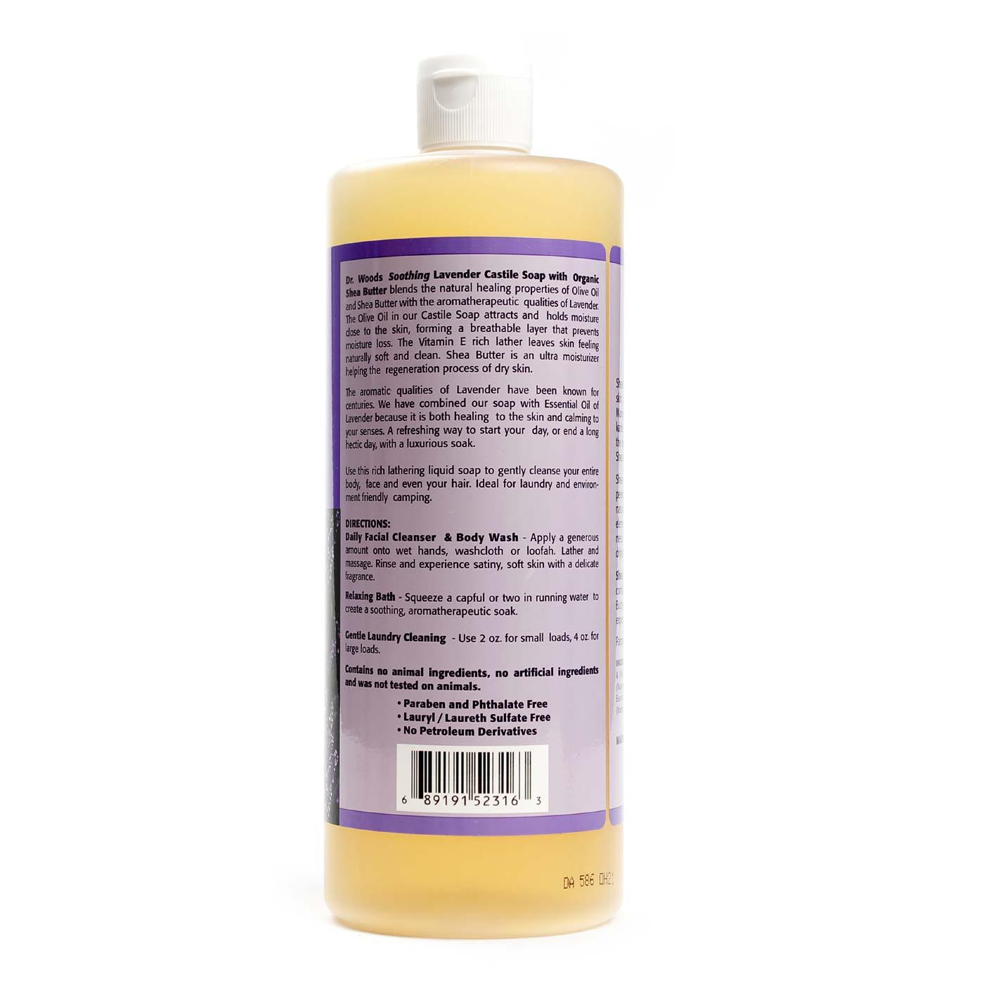 Dr  Woods Soothing Lavender Castile Soap - 32 fl oz