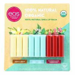 EOS Organic Stick Lip Balm - Vanilla Bean, Sweet Mint, Pomegranate Raspberry