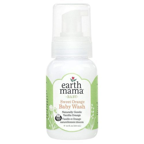 Earth Mama Sweet Orange Baby Wash Natural Orange Vanilla - 5.3 fl oz - 26326_front.jpg